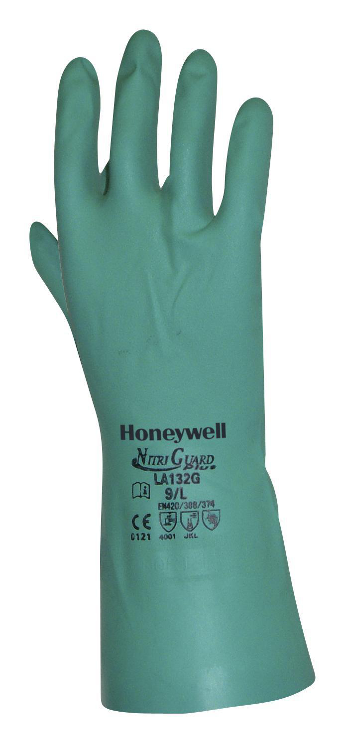 Pack of 12 North by Honeywell LA132G//10 NitriGuard Plus Flock-Lined Nitrile Glove 10 Green