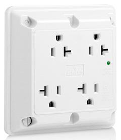 Receptacle 4-in-1 2-pole ground 20A 125V white