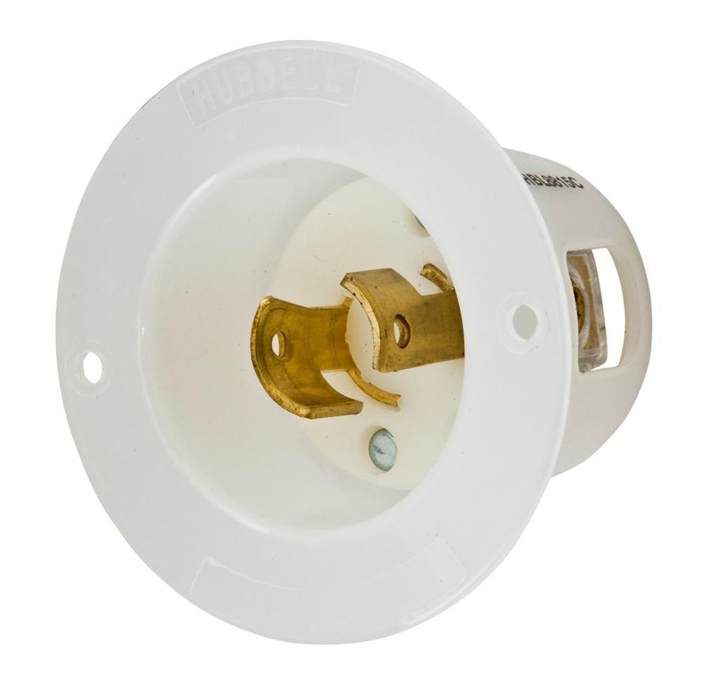 Hubbell 20-Amp 250-Volt 2-Wire 2-Pole Twist-Lock Flanged Inlet 20A 250V 2W 2P