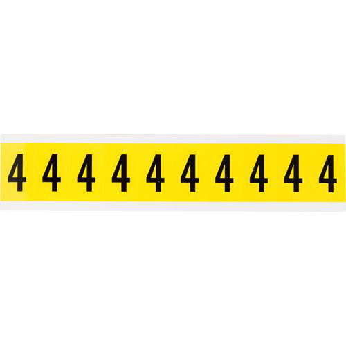 Brady 3430 4 Number Label 4 1 In Character Height 10 Card