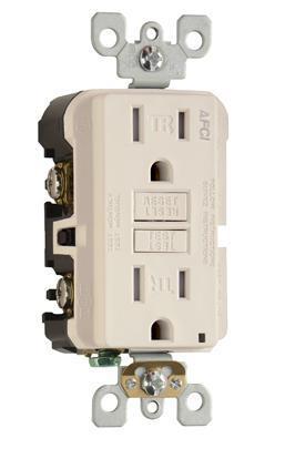 Pass Seymour Af15trla 15amp 125v Trademaster Tamper Resistant Outlet Branch Circuit Afci Receptacle