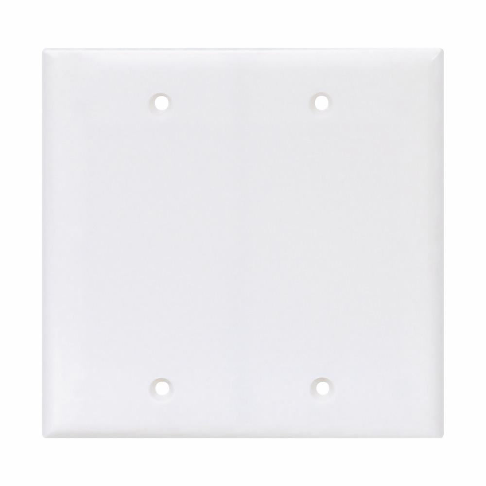 2 Cooper Commercial White Unbreakable Mid-Size 1G Blank Wallplate Covers PJ13W
