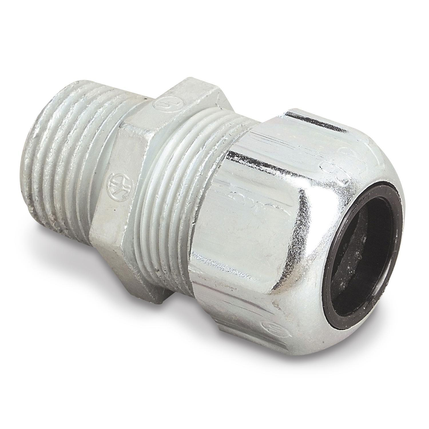 Connector cable str zinc 3/4in 0 235 to 0 465in